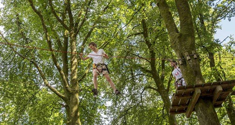 Accrobranches à l'Etape en Forêt, Pays de Vire, Calvados, Normandie