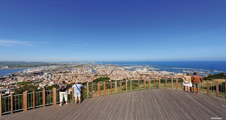 Sète, Cité maritime de caractére - Vue panoramique du Mont Saint clair