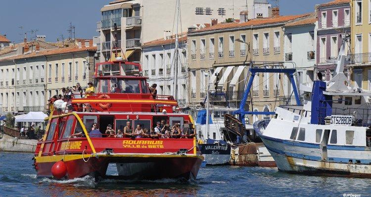 Promenade en bateau sur les canaux de Sète