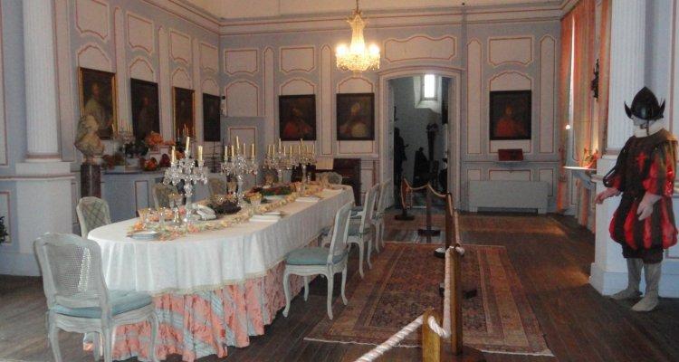 La salle à manger du château de Gy
