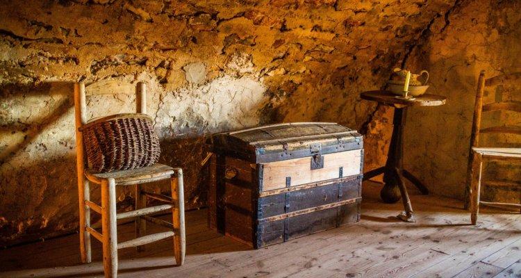 Ferme Caussenarde d'Autrefois - chambre du berger
