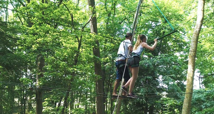 Accrobranche en duo, Jumping Forest