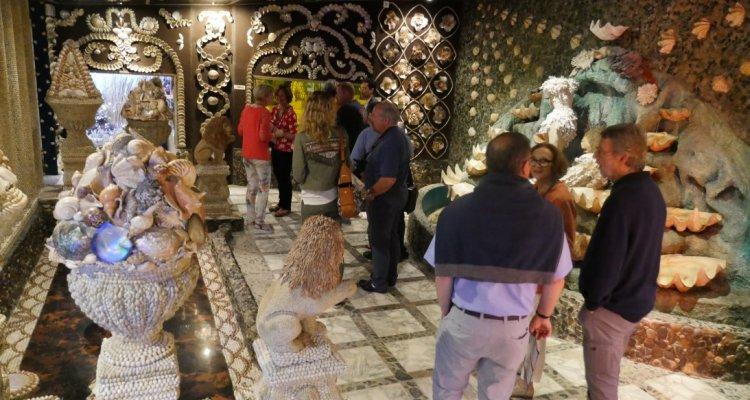 La sirène du Jardin Italien - Féerie des coquillages