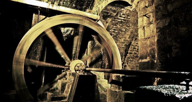 La roue à augets du XIXe siècle