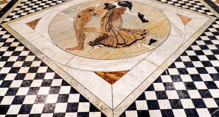 Mosaique bacchique du Château Montus