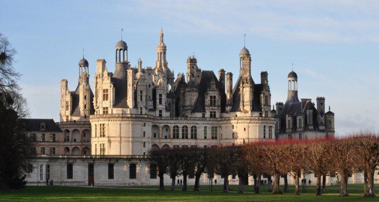 Vue chateau de chambord