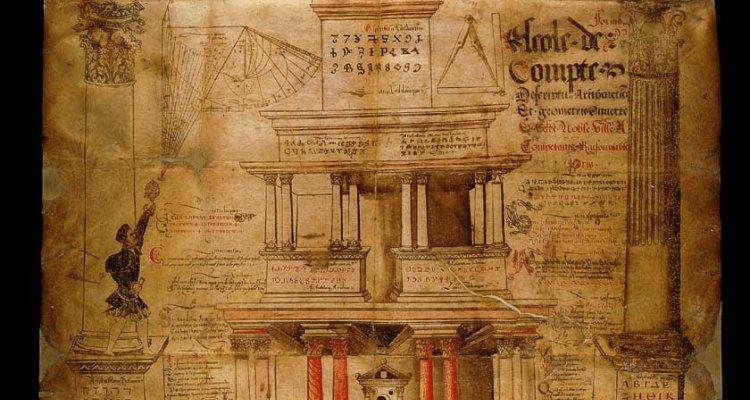 Enseigne d'un maître écrivain, 16eme siècle