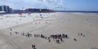 Vue drone Rencontres internationales Cerfs-Volants Berck