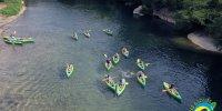 Activité Groupe Time Nature. Visite Troglodyte & dégustation de vin. Cèze Canoës Goudargues-Gard. Descente canoë-kayak