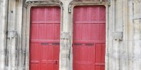 Portail gothique église abbatiale de Montivilliers