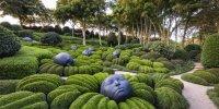 Les Jardins d'Etretat: sculptures Gouttes de pluie
