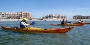 Kayak sur mer hérault