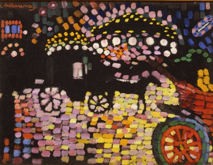 Robert Delaunay, Paysage Nocturne (le fiacre), 1906/1907 Huile sur toile, 43 x 58 cm Collection particulière © Courtesy Galerie Louis Carré & Cie