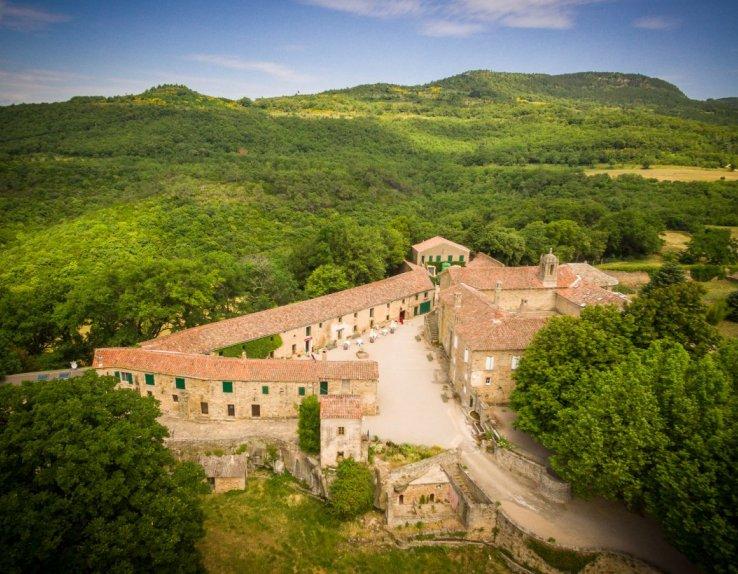 Vue arérienne Prieuré de Grandmont - Crédit photo : Hervé Leclair