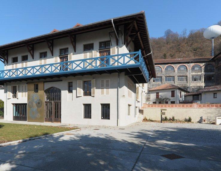 Vue extérieure de la Maison Bergès à Lancey, Villard-Bonnot (Isère)