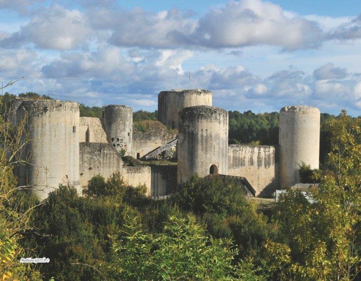 Vue d'ensemble du château de Coudray-Salbart