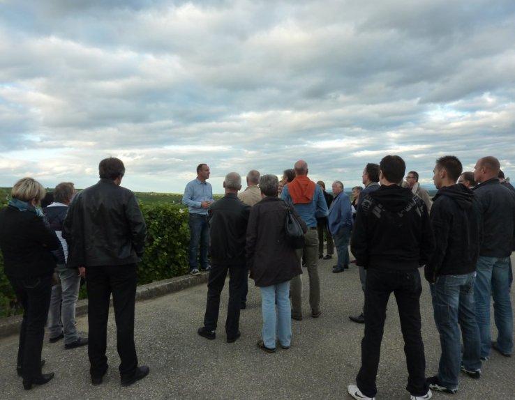 Visite, dégustation de vins d'Alsace à Gueberschwihr